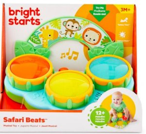 Tamborzinho Safari Beats Musical Toy - Bright Starts