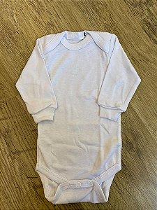 Body Branco Manga Longa - P