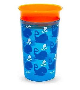 Copo Grande 360 - 266 ml  Deco Baleia Azul /Laranja