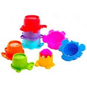 Brinquedo de Copos de  Banho de Empilhar Interativo