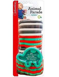 Brinquedo Interativo de Encaixe Animais 24 peças