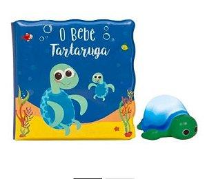 Kit Livrinho de Banho - O Bebê Tartaruga - Com Luz - Buba