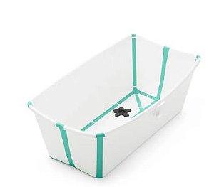 Banheira Portátil e Dobrável Verde com Plug Térmico - Stokke