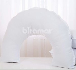 Almofada de Amamentação para Bebê Piquet Branco