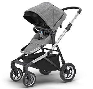Carrinho de Bebê Thule Sleek - Aluminium and Grey Melange