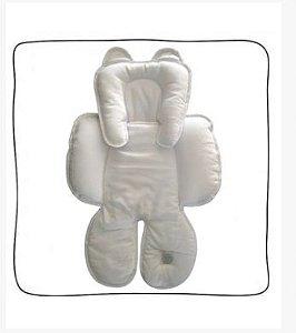 Redutor de Bebê Conforto e Carrinho Branco