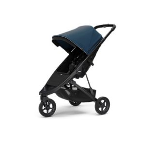 Carrinho de Bebê Thule Spring - Estrutura Preta/Capota Majolica Blue