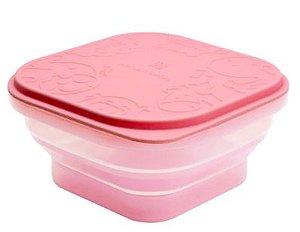 Container Dobrável em Silicone Porquinho Rosa - Marcus & Marcus