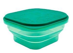 Container Dobrável em Silicone Elefante Verde - Marcus & Marcus