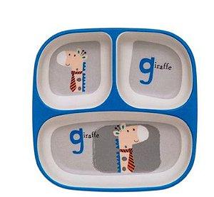 Prato Fundo Girafa Letras Eco Girotondo Baby