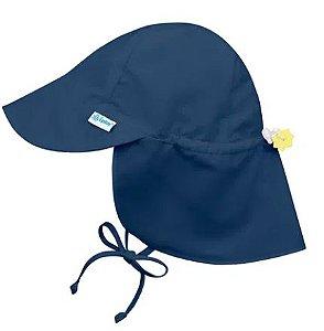 Chapeu de Banho Australiano Azul Marinho P ( 0-6 Meses) FPS 50+