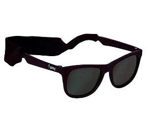 Óculos de Sol Flexivel Preto 0-2 Anos com Proteção Solar