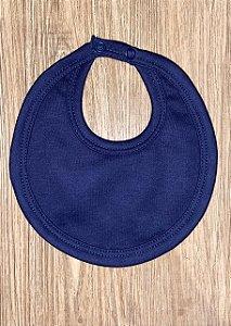 Babador Oval - Azul Marinho