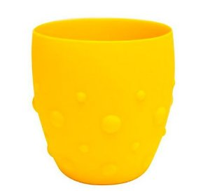 Copo em Silicone Para Treinamento Com Grip Amarelo Marcus & Marcus