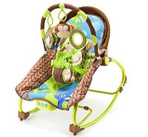 Cadeira de Balanço para Bebê  Multikids Macaco