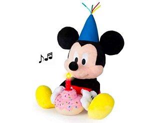 Pelúcia Mickey Happy Birthday