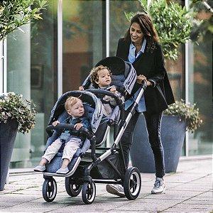 Carrinho de Bebê Thule  Sleek  + 1 Assento  Shadow Grey - Gemeos