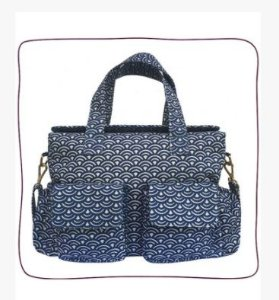 Baby Bag Anne Azul Wave