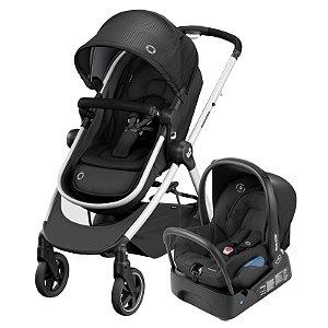 Carrinho de Bebê Travel System Anna2 Trio Essential Black - Maxi-Cosi