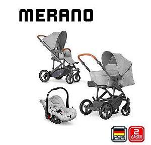 Carrinho de Bebê Merano 4 Trio Woven Grey - ABC Design