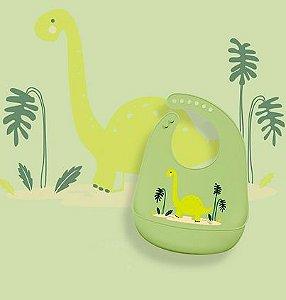 Babador em Silicone Dino - Kababy