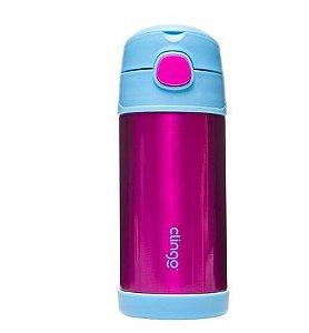 Garrafa Termica Inox Azul e Pink