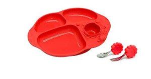 Kit para Alimentação com 4 Divisórias Leão Vermelho