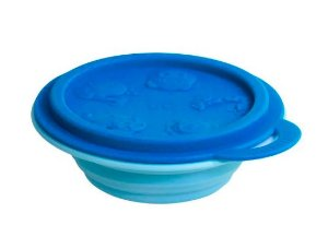 Tigela Dobrável Azul Hipopótamo