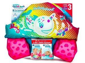 Boia Colete Infantil Salva Vidas Inflável Criança Rosa- Swim School