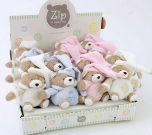 Mini Ursinho Rosa - Zip
