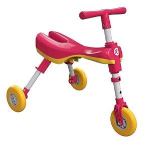 Triciclo Dobrável Bimba Rosa