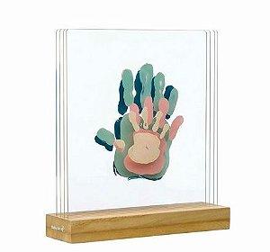 Family Prints Wooden Line - Baby Art