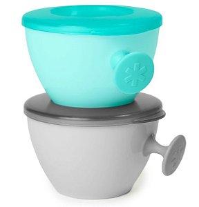 Kit Bowls Easy - Grab Cinza e Azul - Skip Hop