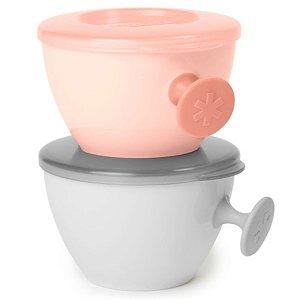 Kit Bowls Easy - Grab Cinza e Coral - Skip Hop