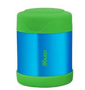 Pote Termico Inox Azul Verde Clingo
