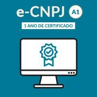 e-CNPJ - no computador - tipo A1 - validade de 12 meses
