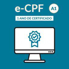 e-CPF - no computador- tipo A1- validade de 12 meses