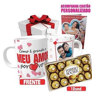 Caneca + Ferrero Rocher + Cartão