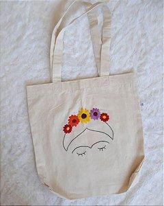 Ecobag com bordado - Frida