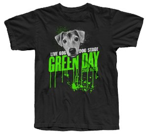 Green Day Cover - Camiseta - LIVE 606 DOG STAGE