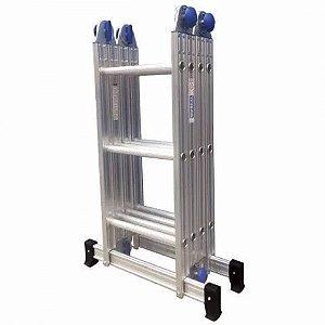Escada Alumínio Articulada Multifuncional 4X3 - 3,55 m Real Escadas