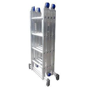 Escada Alumínio Articulada Multifuncional 4X4 - 4,61 m Real Escadas