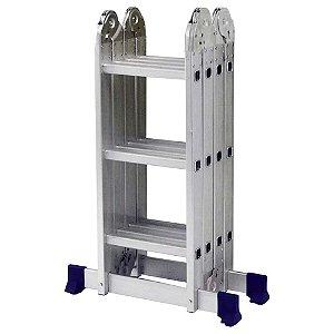 Escada Alumínio Articulada Multifuncional 4x3 - 3,36 m (Mor)