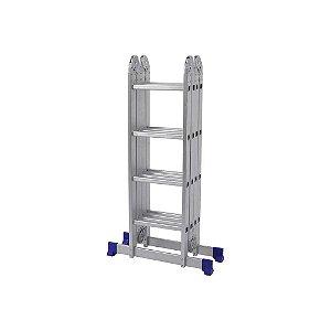 Escada Alumínio Articulada Multifuncional 4x4 - 4,71 m (Mor)