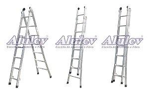 Escada Alumínio Dupla 08 Degraus Supra (Alulev)