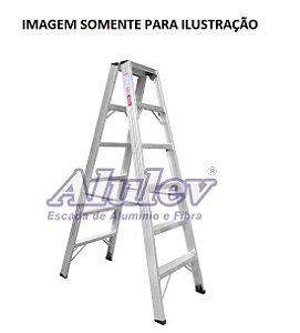 Escada Alumínio Comercial 04 Degraus S/ Alça (Alulev)