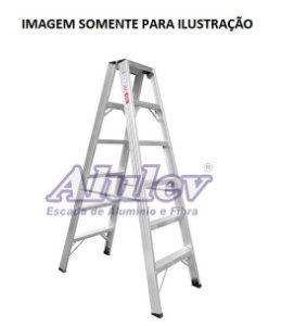 Escada Alumínio Comercial 12 Degraus S/ Alça (Alulev)