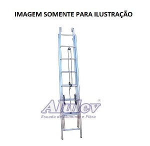 Escada Alumínio Extensível 5,10 M (Alulev)