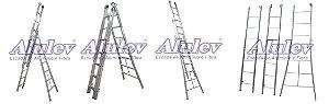 Escada Alumínio Girafa 08 Degraus (Alulev)