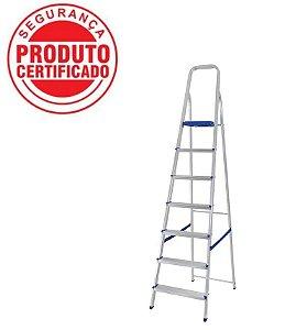 Escada Alumínio Doméstica Residencial 07 Degraus (Mor)